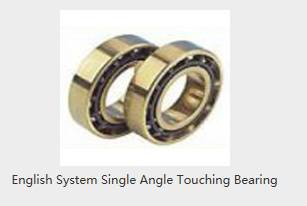 English System Single Angle Touching Bearing
