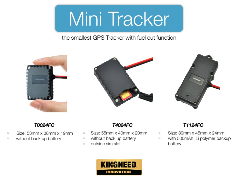 T1124FC Mini GPS tracker with engine shut off remote control fuel cut function for vehicle