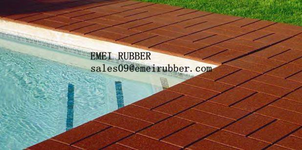 Swimming pool rubber mats