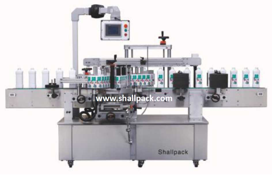 highly precise high speed linear self adhesive sticker labeling machine SL-6B_Shallpack