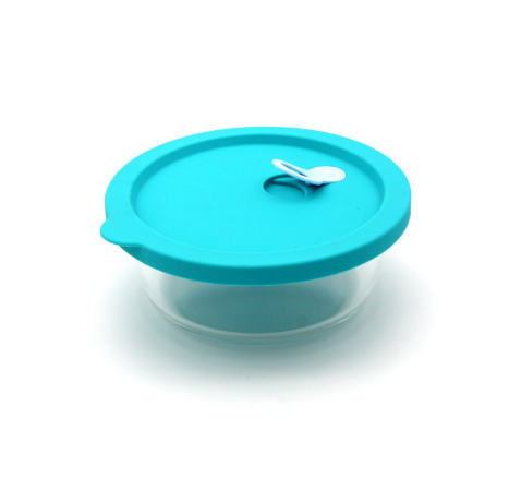 hot sale high quality glass container with lid