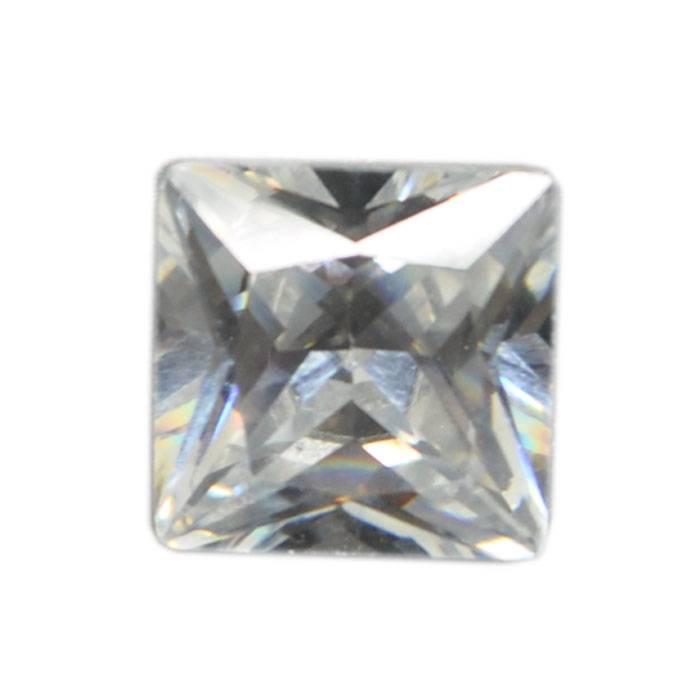 Square cut 8*8mm 100pcs White Cubic Zirconia Loose CZ Stone Lot