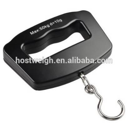 Handing Digital Luggage Scale 50 Kg x 10g Blue Light Lcd Postal Shipping Mailing Scale