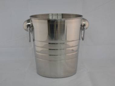staiess steel ice wine bucket with handle