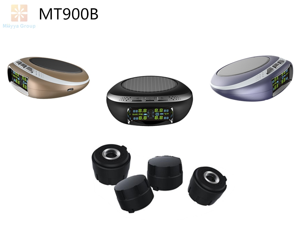 TPMS Wireless Solar panel Car Tire Pressure Monitoring System+4 External TPMS Sensors
