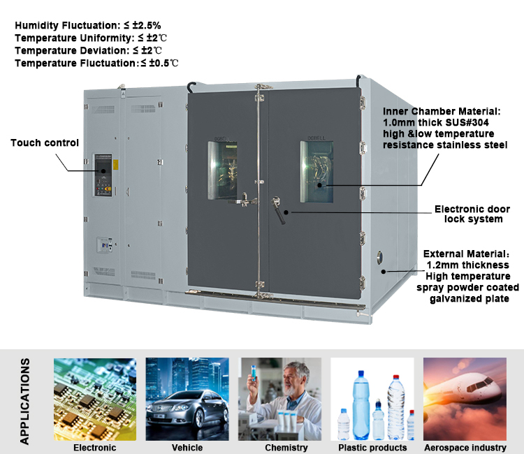 Walk-in Temperature-Humidity Climate Environmental Chamber Cabinet