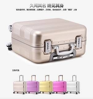 """2015 New Style 18/21/25"""" Black Aluminum Suitcase Aluminum Luggage case"""