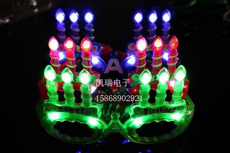 christmas toy LED glasses CANDLE carnival festival holiday supplies party decoration luminous christ