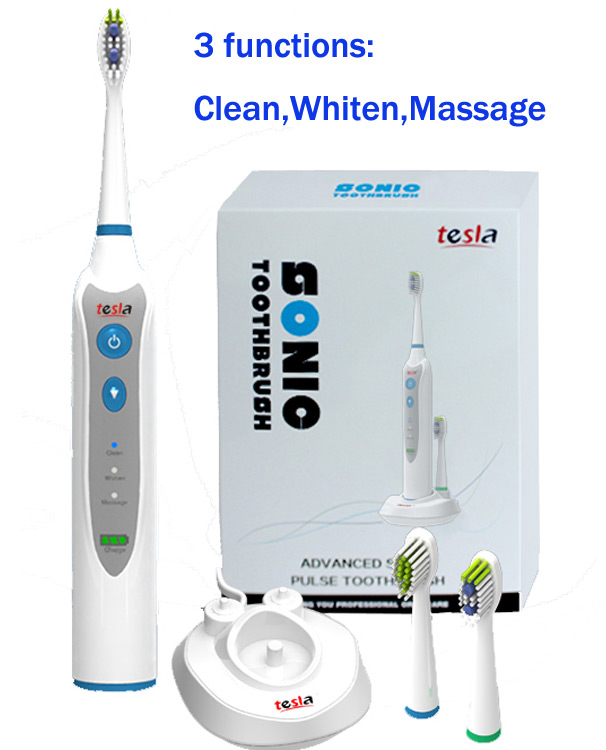 Supply Top Quality Sonic Powerful Adult Electric Toothbrush With 3 Heads
