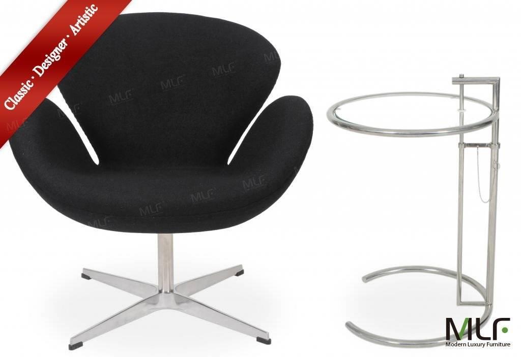 MLF Arne Jacobsen Swan Chair  (Chair: Black Wool)