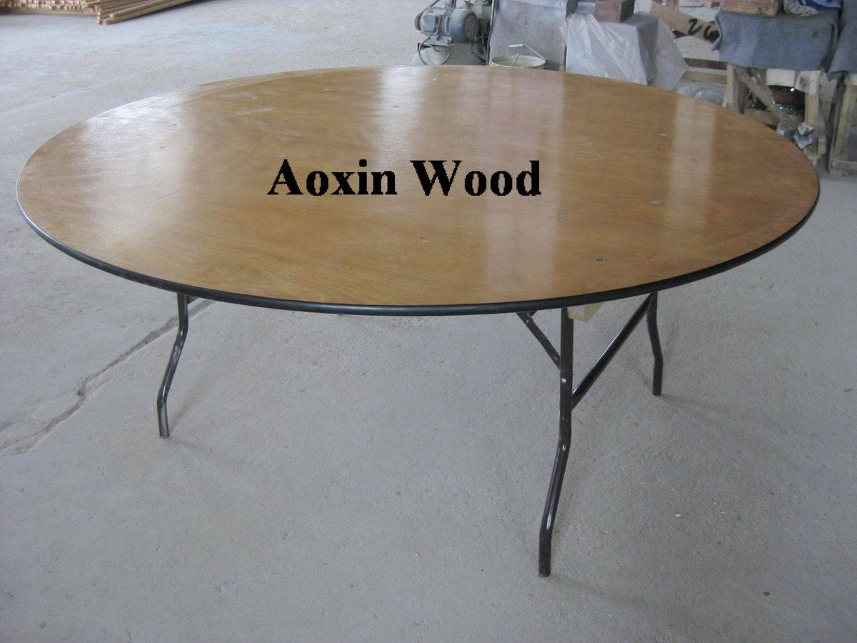Plywood banquet folding table