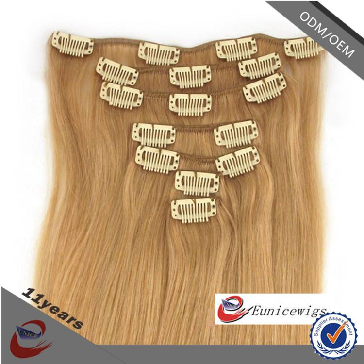 New Arrival Wholesale Price 220g Remy Cheap 100% Human Hair Clip in Hair Extension
