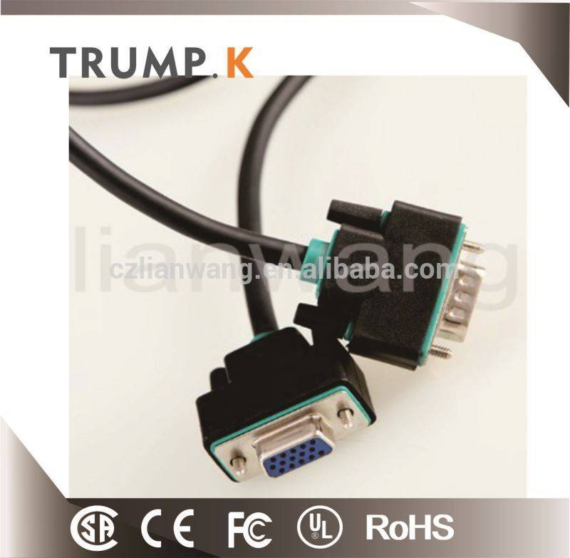 6ft meters vga cable,vga cable specification,awm cable vga