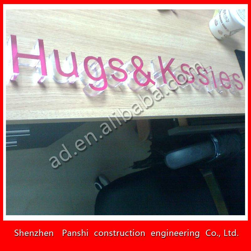 oem design lucid acrylic letter sign made in china