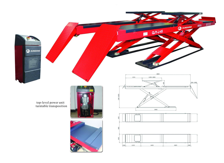 Ultra thin scissor alignment lift,capacity:4500kgs