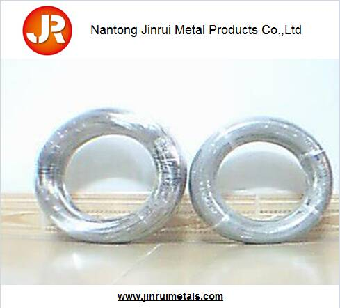 Nickel coated spring steel wire