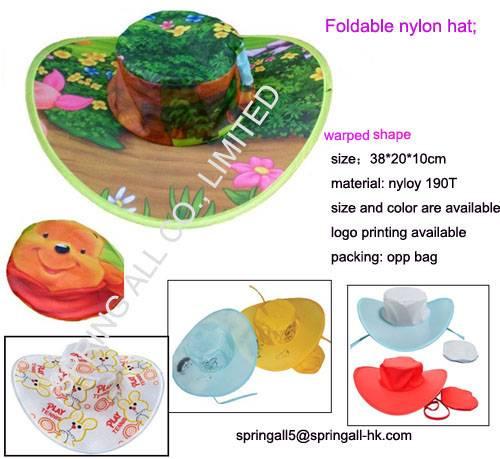 Foldable nylon hat