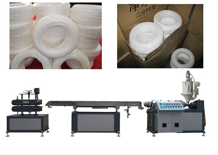 Single Screw Extruder PE Hot Water Pipe Making Machine 20 - 32 mm Tube Size
