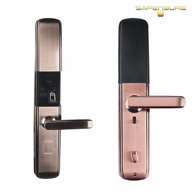 Digital Fingerprint RFID Card Code Combination Mortise Door Lock
