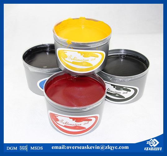CMYK cyan, magenta, yellow, black sublimation offset printing ink