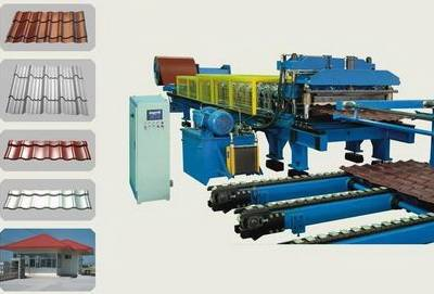 Steel & Aluminium Step Roofing Tile Roll Forming Machine