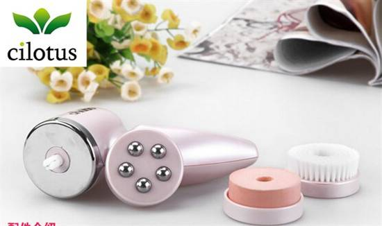 3 in 1 home DIY personal caring electric rotating facial cleaner brush face massager KW1105