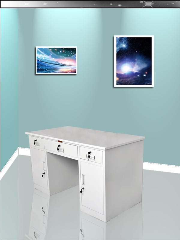 Competitive factory price computer desk with drawer cabinet