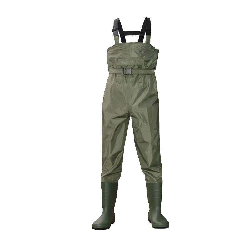 PVC 210T waders plastic/rubber/neoprene waders high quality 100% waterproof nylon fishing pvc wader