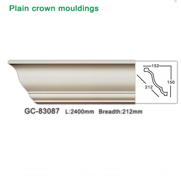 Plaster-like plain crown mouldings-Polyurethane foam cornice