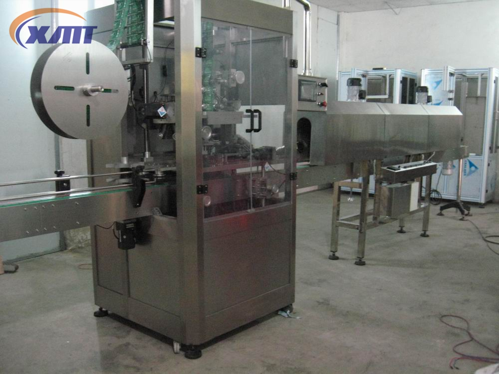 Automatic bottle sleeve labeling machine