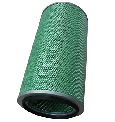 Wood pulp fiber cartridge air filter