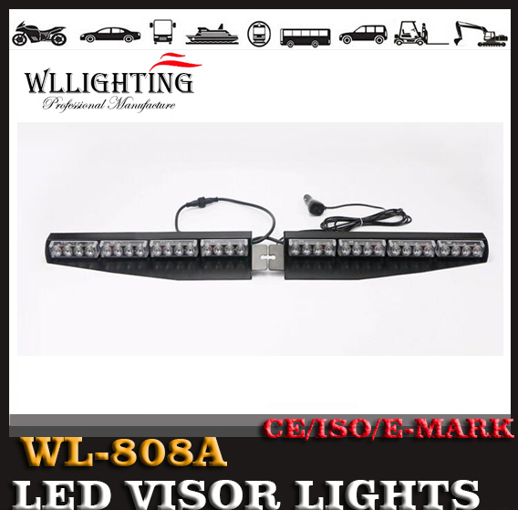 12V AND 24V 32W Split Interior LED Visor Light Bar