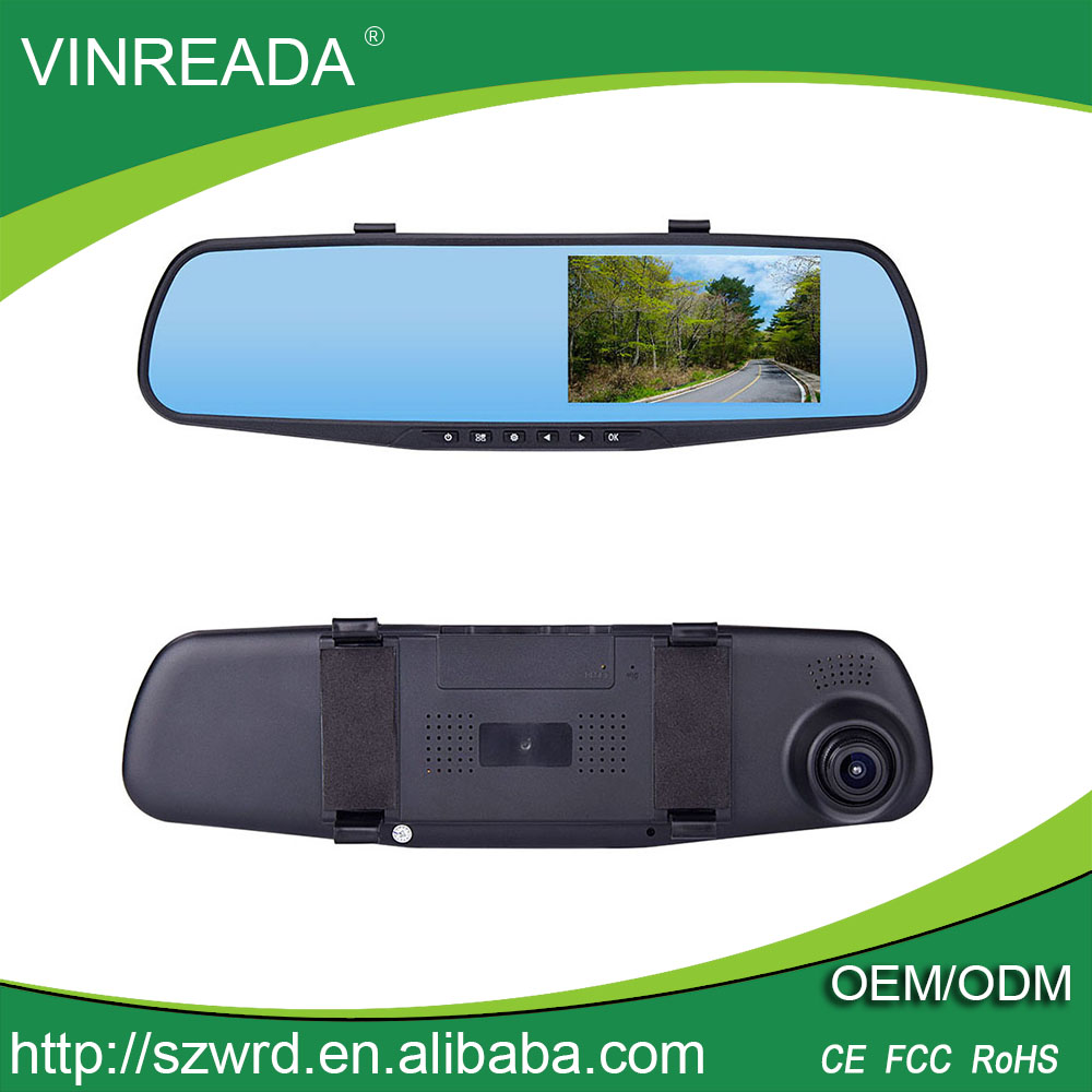 "4.3"" Rearview Mirror Full 1080P HD Car Camera Dash Cam Vehicle Car Video Recorder"