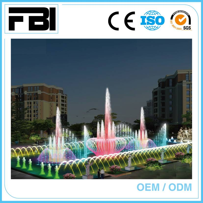 large park fountain, dancing with music and lights, outdoor fountain Min. Order: 1 Set   15m rectang