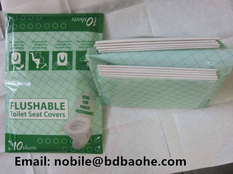 dispoasble toilet seat cover paper (travel pack)