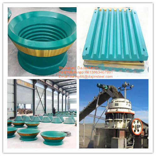 crusher wear parts jaw plate cone crusher plate