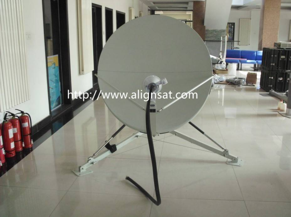 Alignsat 1.2m Fiber Glass Portable Offset-Feed Antenna