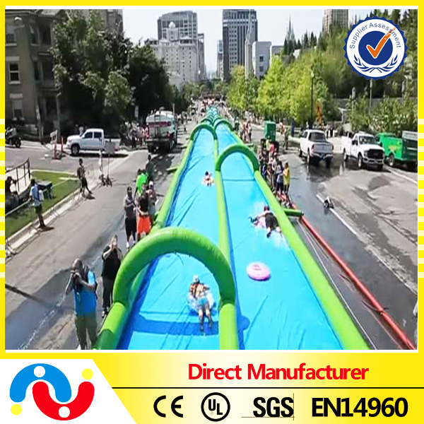 Inflatable Double Lane Water Slides Slip n Slide For Rental