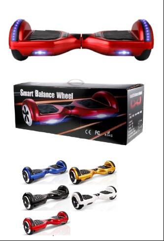 6.5inch Led light Two Wheels Self Balance Scooter with Bluetooth speaker