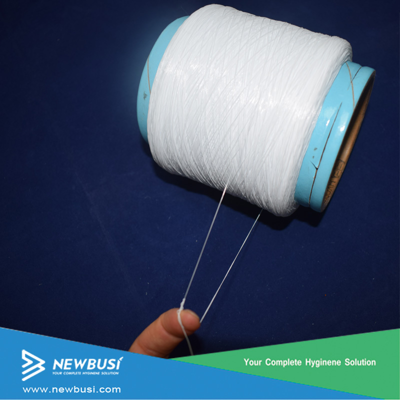 Raw material spandex yarn for diaper nappies