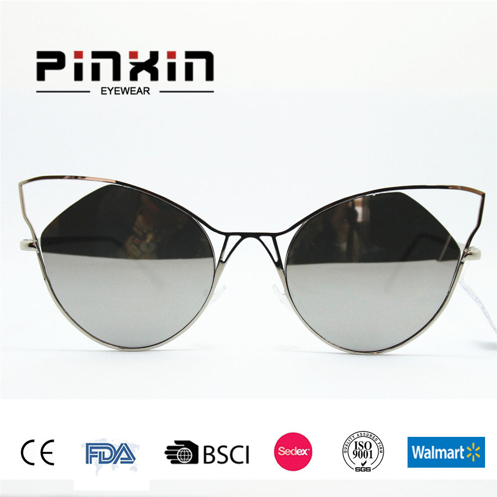 2017 fashion metal frame sunglasses itally design with coating revo revo accept print logo