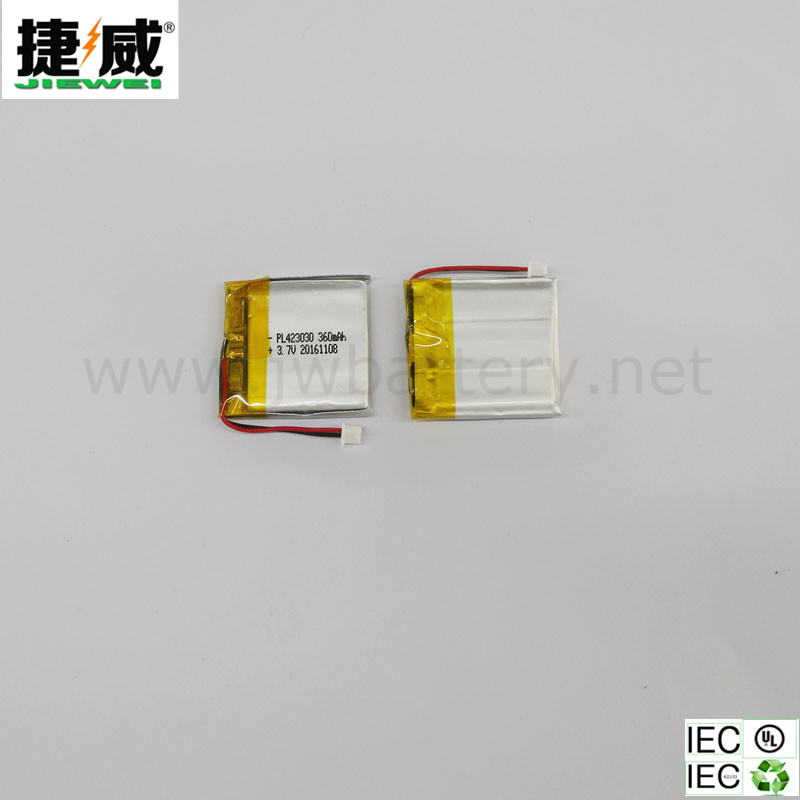 Digital Camera battery li polymer battery JW-PL423030 360mAh 3.7V