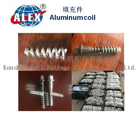 Aluminum coil for wooden sleeper