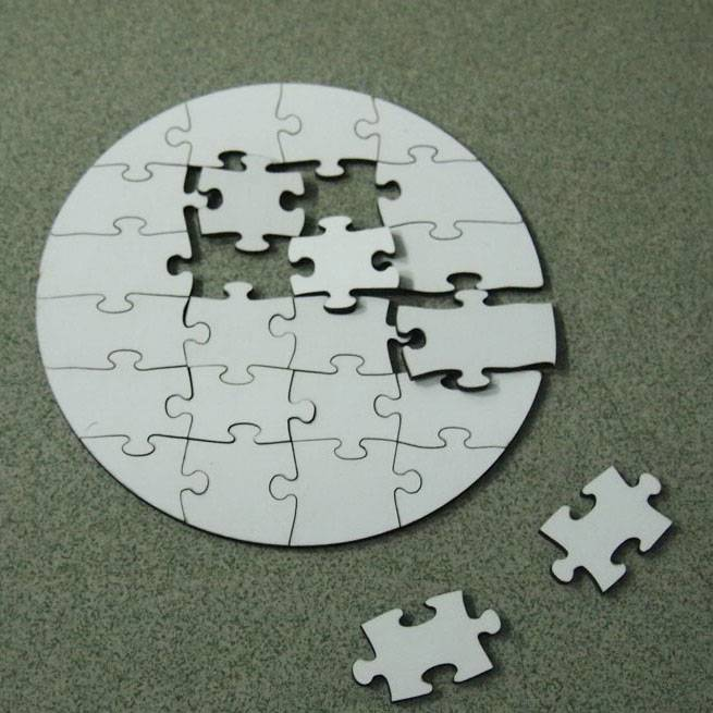 sublimation MDF Jigsaw Puzzle for heat press