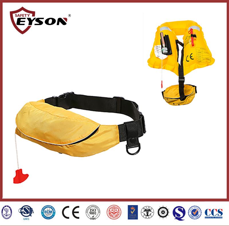 Waist bag inflatable life vest