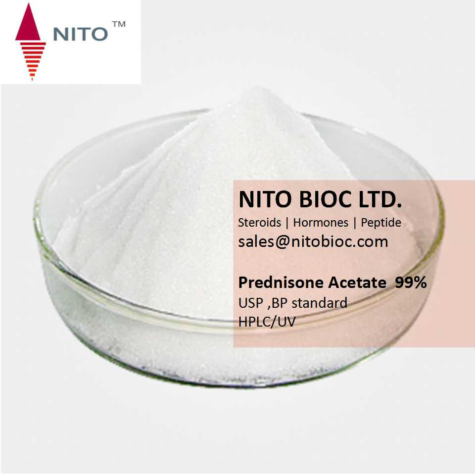 Factory Quality Control, Strong Steroid Powder:Prednisone Acetate with CAS NO:125-10-0