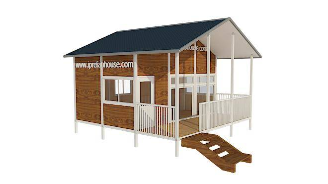 cute one layer portable panelized light steel house,29.81 sq.m.