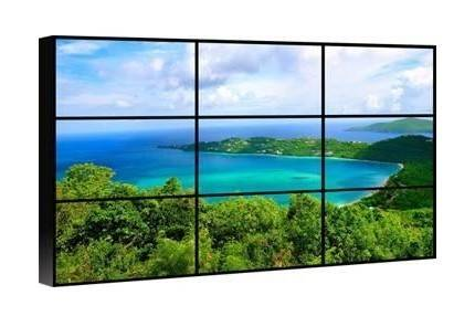 "Video wall stand 55"" samsung lcd panel 5.3mm super narrow bezel video wall"