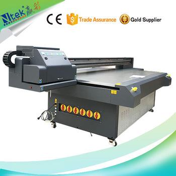 Jinan Inkjet digital PVC uv printing machine,multicolor NTEK uv flatbed printer for integrated board