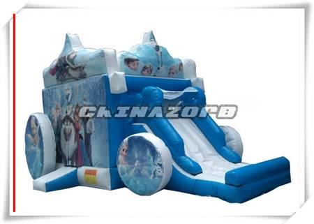 New popular Frozen bouncy castle inflatable bouncer slide
